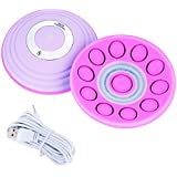 暖房胸部マッサージ刺激装置 - USBワイヤレス女性胸部マッサージバスト拡大リフティング(紫の、)