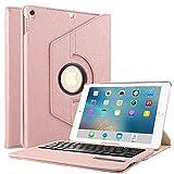 Boriyuan iPad Pro 10.52017用キーボードケース 360°回転するスタンド PUレザー製スマートカバー Apple iPad Pro 10.5インチ (A1701/ A1709)に対応する取り外し可能ワイヤレスBluetoothキーボード付き IPAD10.5-360KEYJSW