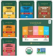 VAHDAM, Chai Tea Sampler, 5 TEAS - Tea Variety Pack | Assorted Chai Tea Bags | Cardamom Tea Bags, Cinnamon Tea