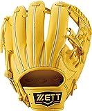 ZETT(ゼット) 硬式野球 プロステイタス グラブ (グローブ) セカンド・ショート用 トゥルーイエロー(5400) 右投げ用 BPROG540