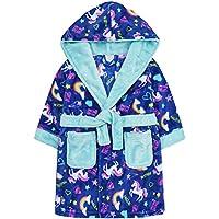 MiniKidz & 4Kidz Childrens/Girls Bright Unicorn Print Fleece Dressing Gown