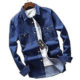 (ワイ-ミー)Y-ME デニムシャツ 薄いセクション 春のシャツ 807-blue L