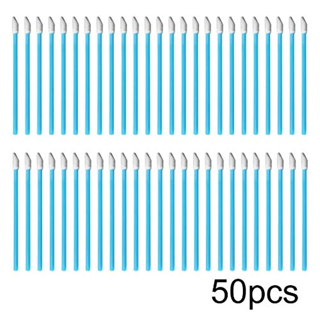Swiftgood 50ピース/ロットカラフルな使い捨て化粧リップブラシ口紅ブラシペンワンド個別アプリケーター化粧品ツールアクセサリー