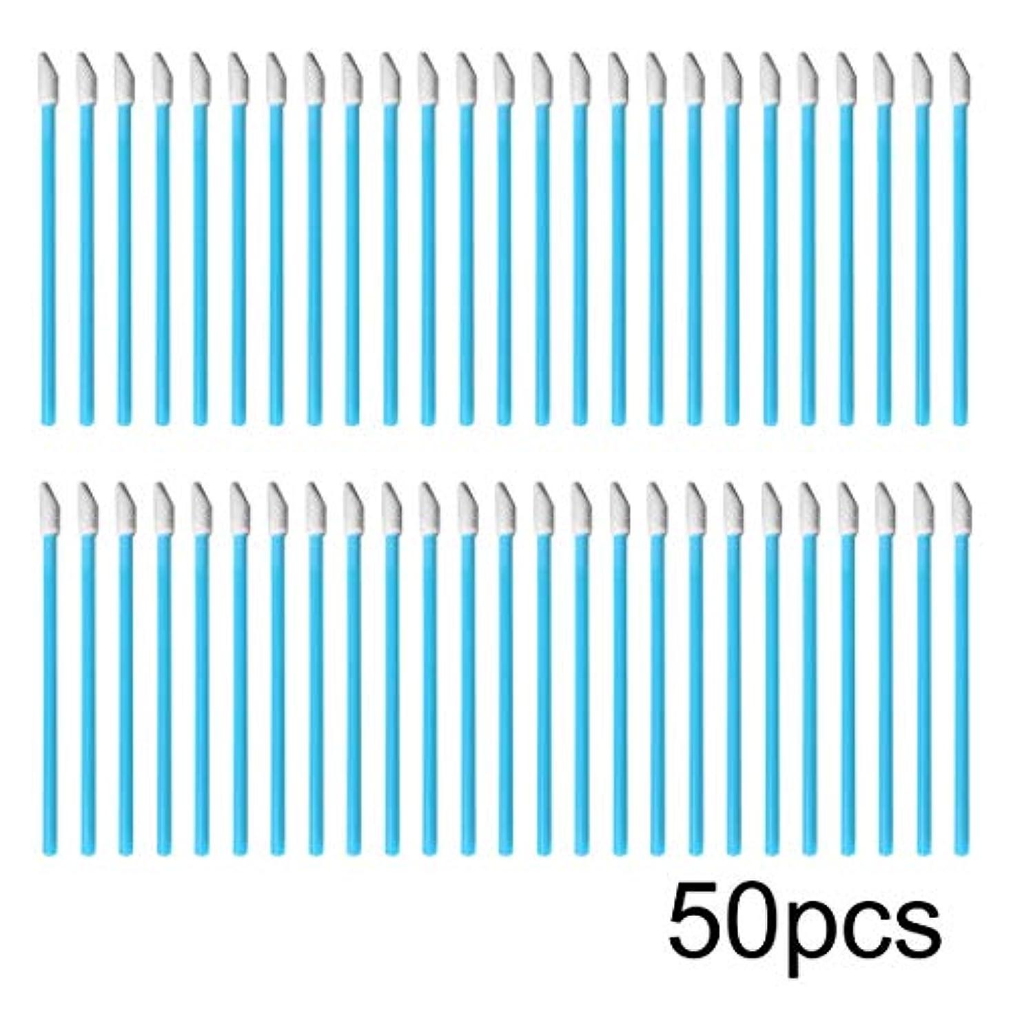 ダブル書き込み速度Swiftgood 50ピース/ロットカラフルな使い捨て化粧リップブラシ口紅ブラシペンワンド個別アプリケーター化粧品ツールアクセサリー