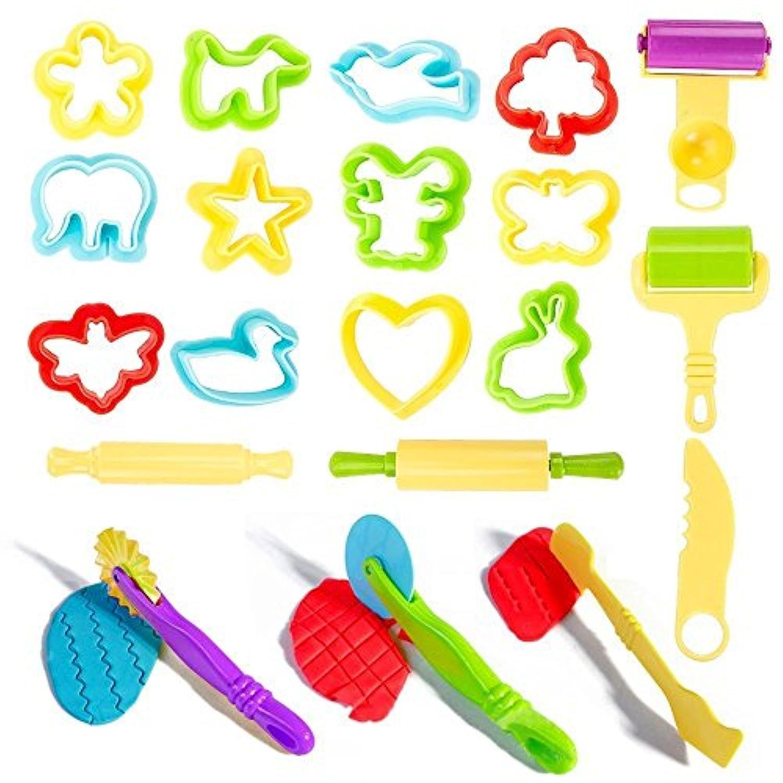 Beito ねんどのお道具セット ねんど 粘土 おもちゃ ねんどツール 粘土 道具 20個セット