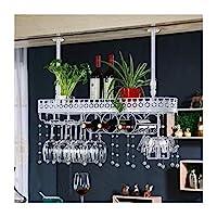ヨーロッパの錬鉄ワイングラスラック逆さまホームバーバーワイングラスカップホルダーぶら下げワインキャビネット装飾ハンガー装飾(色:白、サイズ:80 * 25cm)