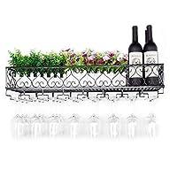 ウォールマウントメタルホームワインラック - 安い、ディスカウント価格ワインボトルぶら下げ脚付きグラスホルダー収納ラック家および台所装飾