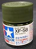 タミヤ・アクリルミニ XF-58 オリーブグリーン