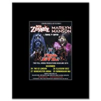 ROB ZOMBIE AND MARILYN MANSON - Live in the UK 2012 Mini Poster - 13.5x10cm