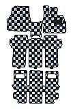 BMS(ビーエムエス) クリアチェックフロアマット シルバーグレー×ブラック 【ミツビシ デリカD5 CV5W/CV2W H20/5~7人乗 寒冷地仕様車(リアヒーター付)】 A01-M72-118