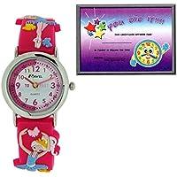 Ravel Time Teacher Girls 3D Ballerina Design Pink Rubber Strap Watch R1513.73