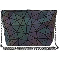 Danse Jupe Womens Geometric Purse Holographic Chain Crossbody Bag Clutch Purse