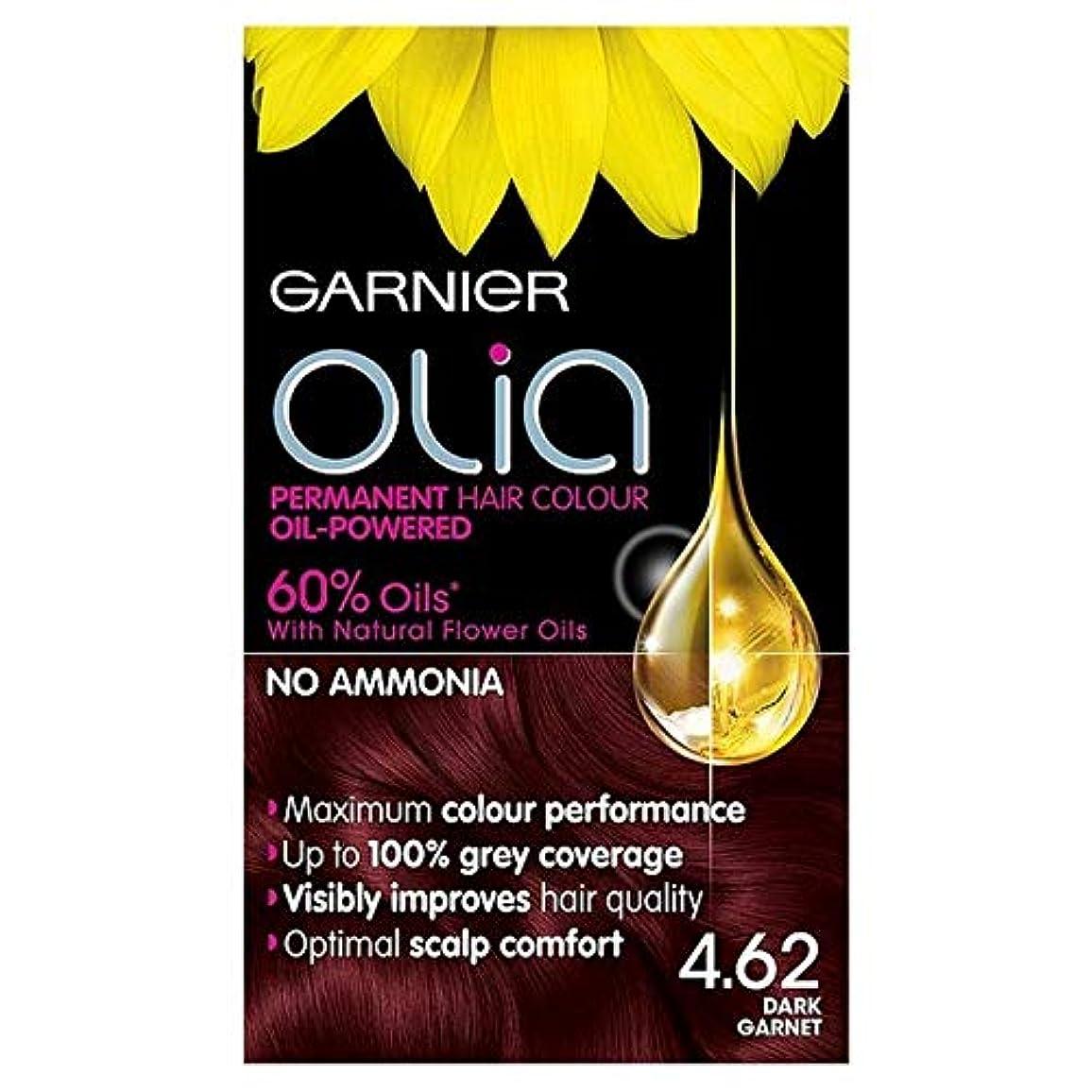 [Garnier ] ガルニエOlia 4.62濃いガーネット赤パーマネントヘアダイ - Garnier Olia 4.62 Dark Garnet Red Permanent Hair Dye [並行輸入品]