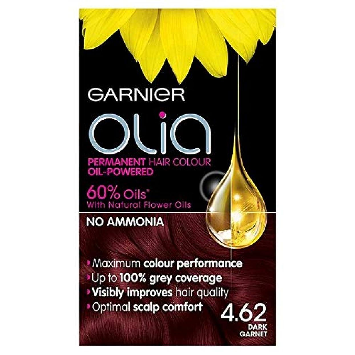 拒絶通知する二度[Garnier ] ガルニエOlia 4.62濃いガーネット赤パーマネントヘアダイ - Garnier Olia 4.62 Dark Garnet Red Permanent Hair Dye [並行輸入品]