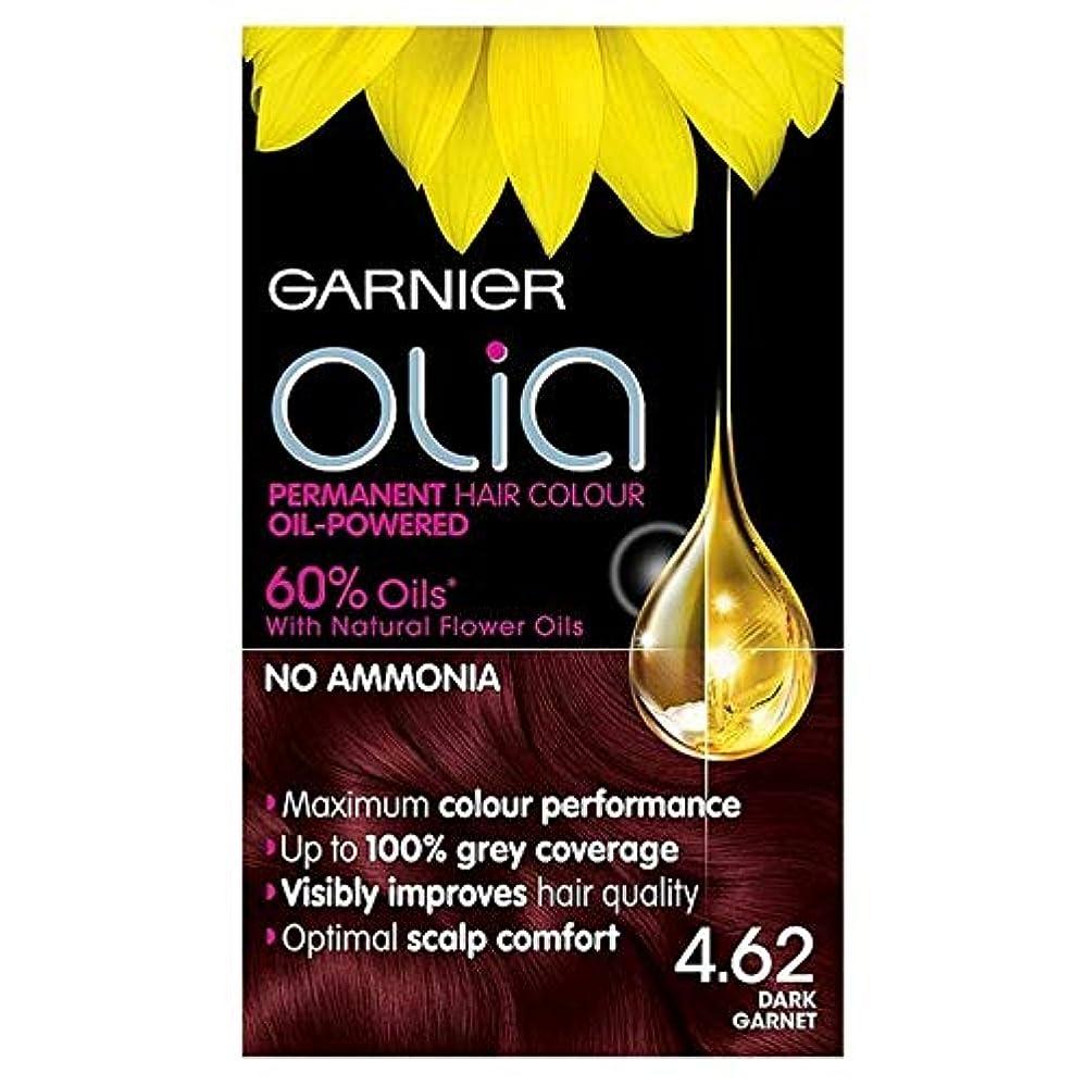 クラブなのでヘビ[Garnier ] ガルニエOlia 4.62濃いガーネット赤パーマネントヘアダイ - Garnier Olia 4.62 Dark Garnet Red Permanent Hair Dye [並行輸入品]