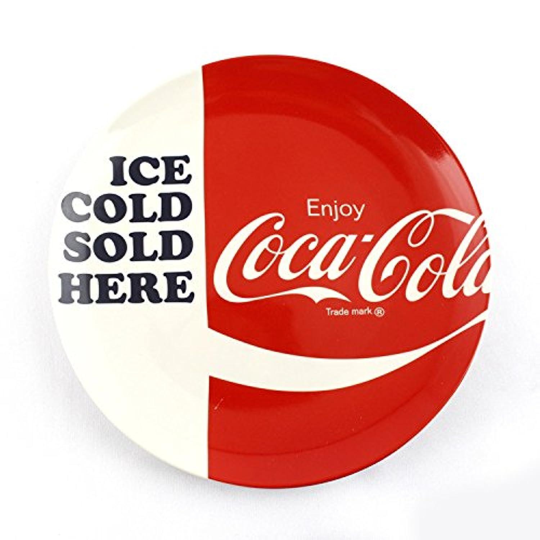 皿?プレート 20cm コカコーラ ディナープレート ICE COLD SOLD HERE 食器 陶器 COCA-COLA アメリカ雑貨 アメリカン雑貨