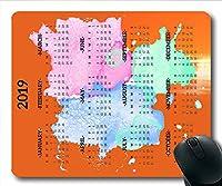 パーソナライズされた2019カレンダーマウスパッド、カレンダーデスクゲーミングマウスマット、カレンダープランナー2019休日の詳細