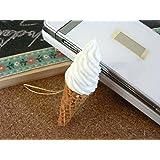 食品サンプル屋 食品サンプル 携帯ストラップソフトクリーム バニラ02P03Dec16