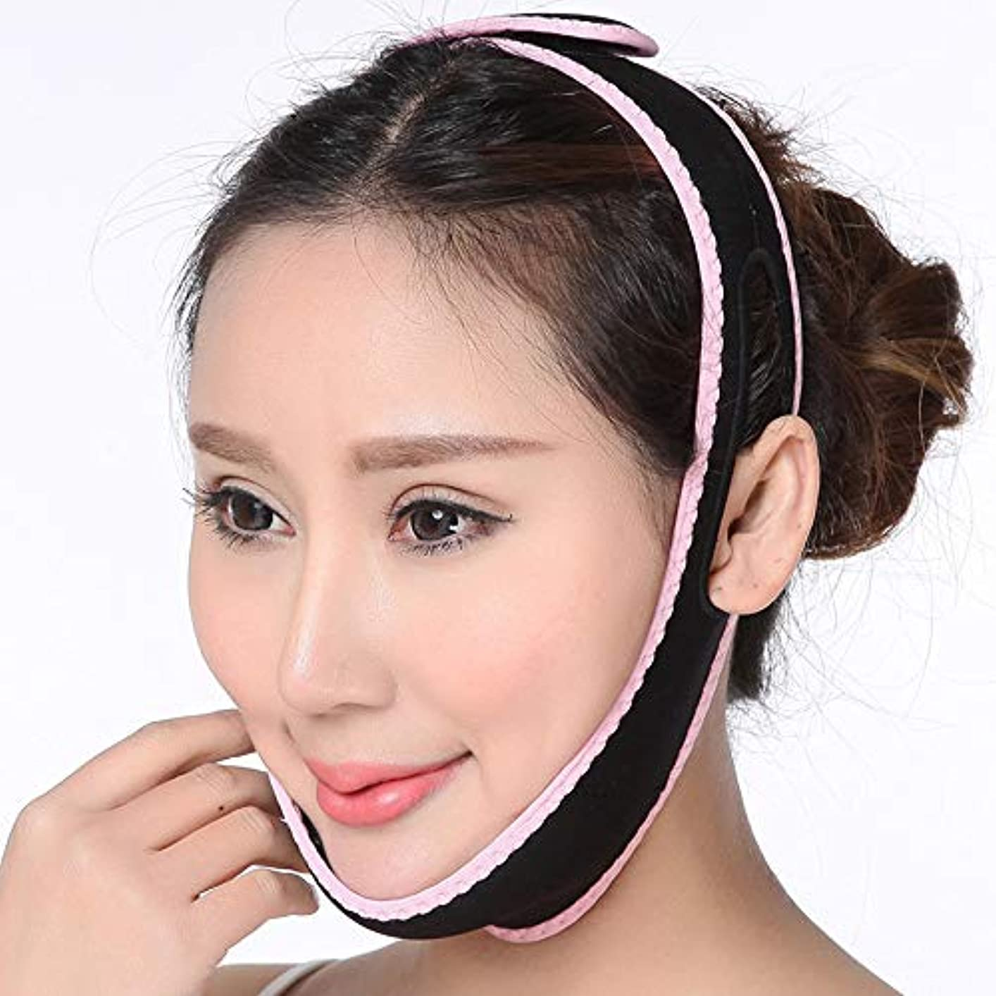 サークルテメリティコカイン顔面持ち上げ器具、vフェイス、顔持ち上げ包帯、ハーフパッケージマスク、持ち上げと締め付け、ユニセックス