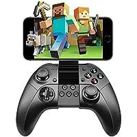 iPhone/Android コントローラー ゲームパッド IOS RegeMoudal Bluetooth スマホ コントローラー iPhone, iPad, iPod touch Androidの携帯電話適応 VRなど対応 振動機能 高耐久ボタン USBケーブル同梱