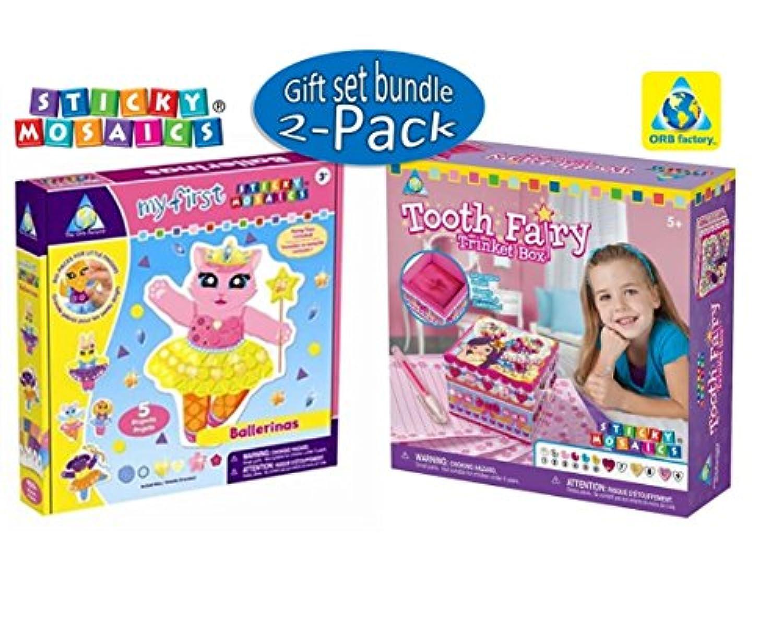 The Orb Factory Sticky Mosaics Bundle Including歯の妖精Trinket Box and My First Sticky Mosaics Ballerinas