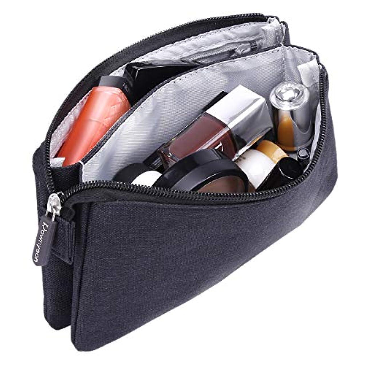 硬化するジュニア販売員Rownyeon 化粧ポーチ メイクポーチ クラッチバッグ 小型 財布 インナー コスメポーチ 大容量 機能的 小物入れ シンプル 小物ケース 携帯用 普段使い 人気
