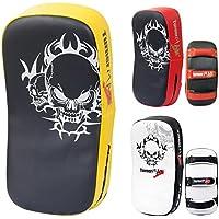 TurnerMAXタイキックパンチStrike BoxingパッドCurved Arm Shield MMA UFCトレーニング格闘技タイ式イエローブラック(シングルItem )