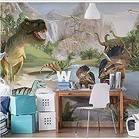 Weaeo 手塗りの恐竜の動物の壁画3D壁の壁画の壁紙の壁紙の壁紙背景壁の壁の壁の壁画-250X175Cm