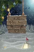 ofila 3x 5ftビニール写真背景DreamyクリスマスSnowy NightカードBackdropフォトスタジオ小道具Potraits子供ベビー