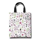 NIKO かわいく愛らしくにこやかな音楽は花に注意します おしゃれ トートバッグ カラフル カラー 買い物バッグ エコバッグ レディース 小物入れ 手作り 遠足 旅行 かばん A4