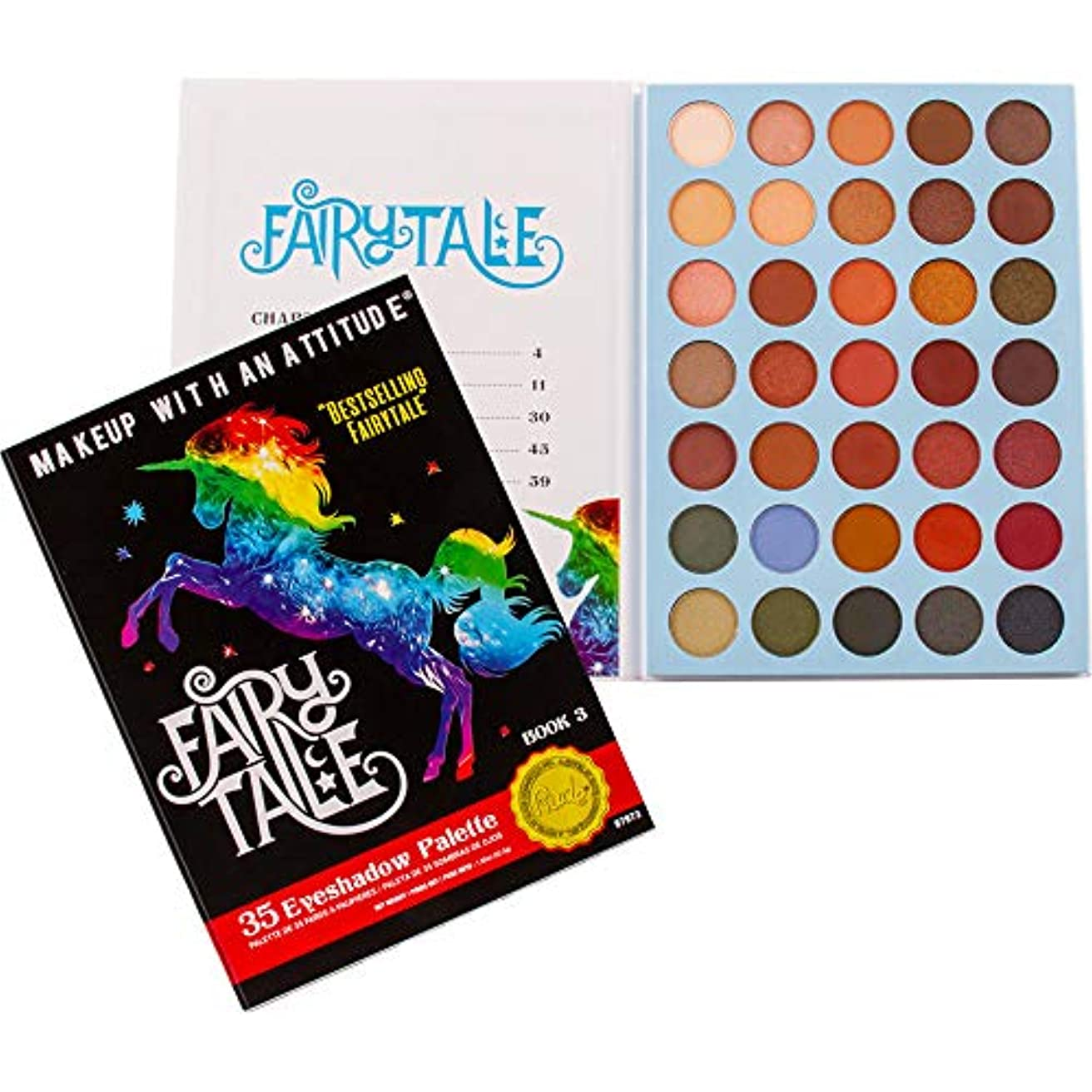 ラフレシアアルノルディ急ぐ助けてRUDE Fairy Tales 35 Eyeshadow Palette - Book 3 (並行輸入品)