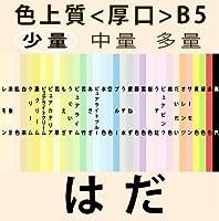 色上質(少量)B5<厚口>[肌](100枚)