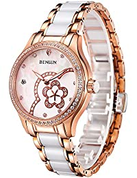 腕時計 レディース ファッション BINLUN スタンダード 機械式 自動巻き 防水 オリジナル デザイン 女性 ウォッチ [並行輸入品]