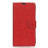 """シャープ Android One S1 ケース 手帳型 ブックカバーケース""""Book Cover Case"""" 手帳型ケース カバー 手帳型 (赤)"""