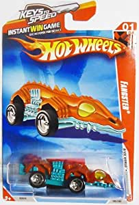 Hot Wheels FANGSTER 01/04 Race World UNDERGROUND 185/240 Metallic Red & Metallic Teal