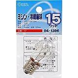 オーム電機 ミシン・冷蔵庫球 T22型 E17/15W クリア LB-T2715-C E17-C