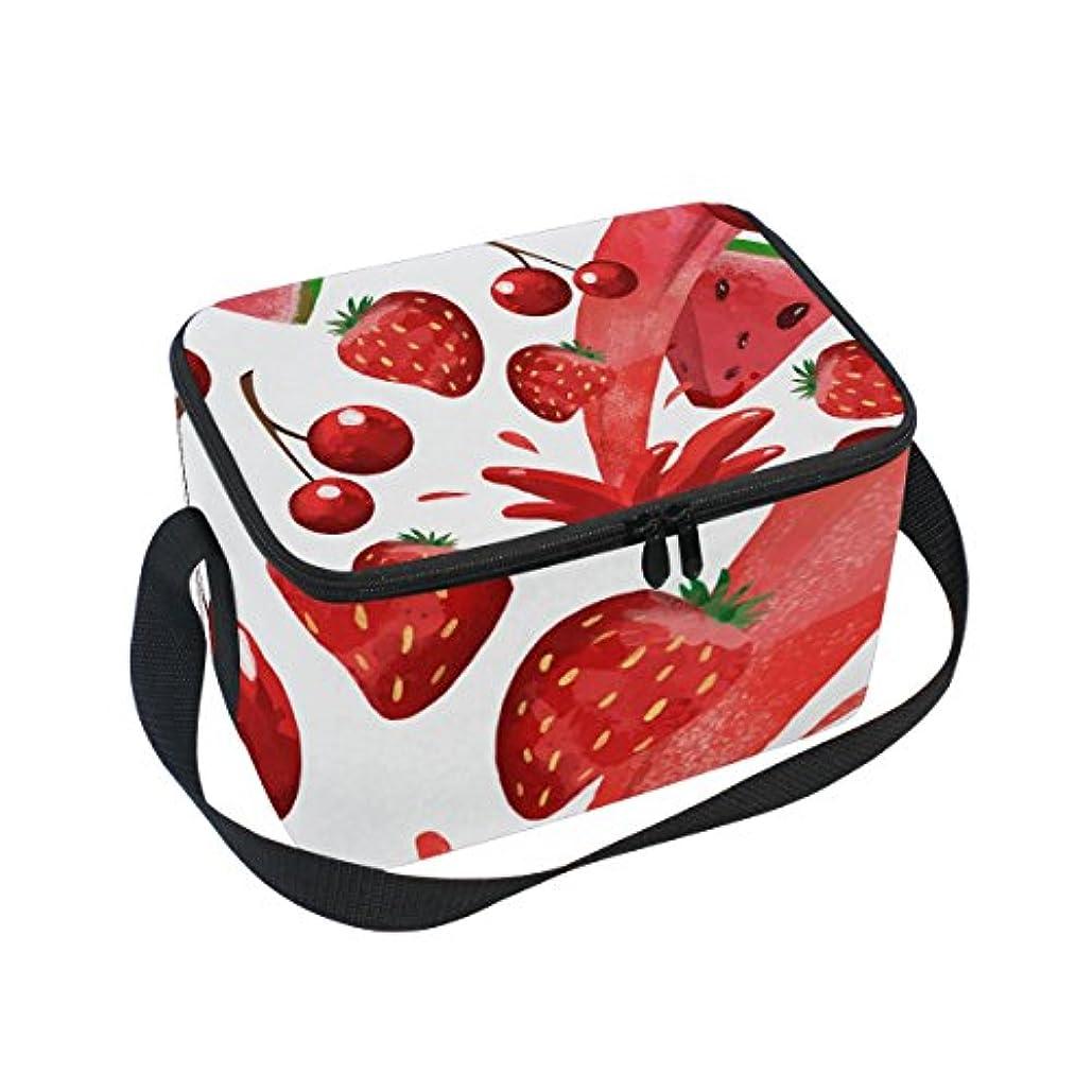 首相すぐに便益クーラーバッグ クーラーボックス ソフトクーラ 冷蔵ボックス キャンプ用品  イチゴとスイカ柄 保冷保温 大容量 肩掛け お花見 アウトドア