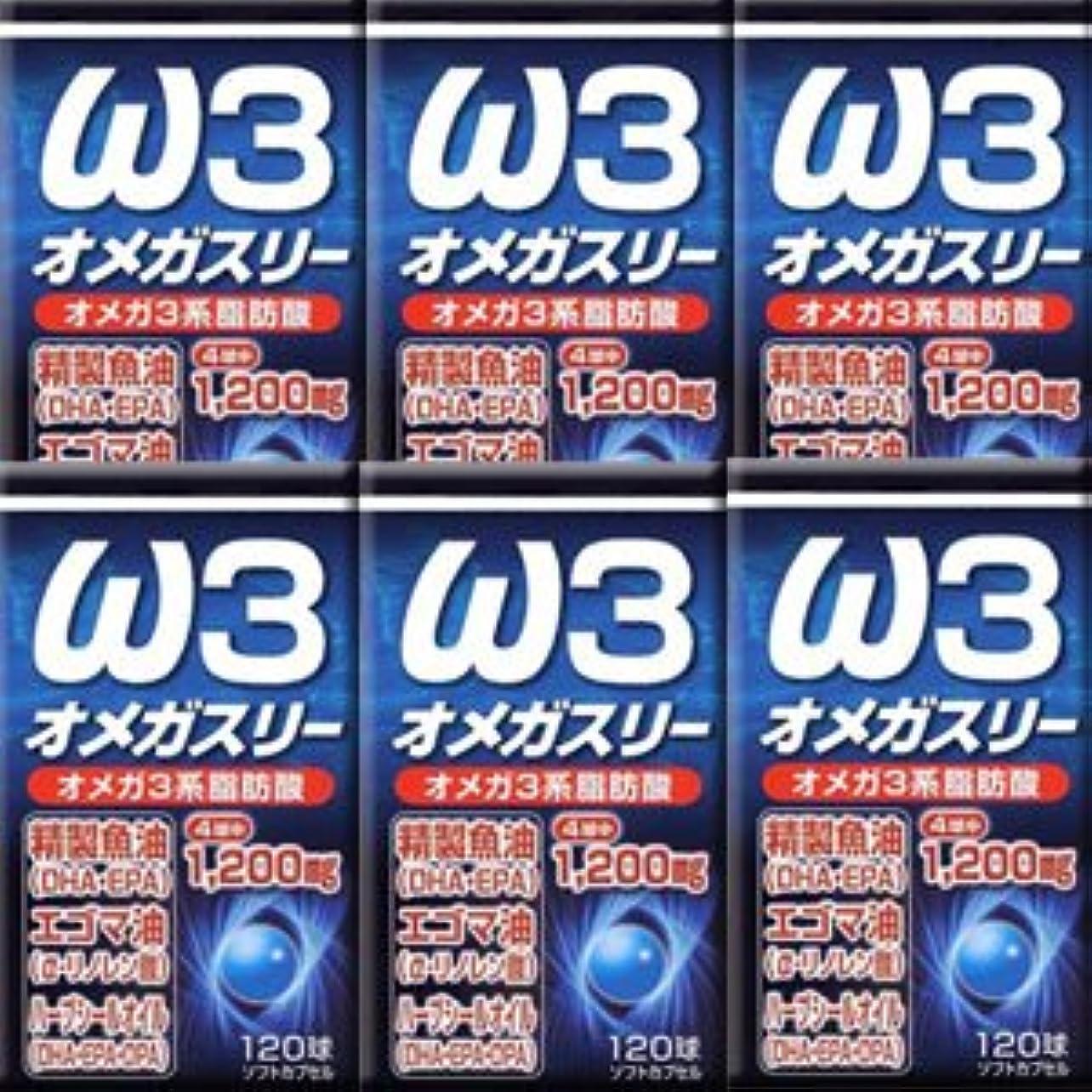 偶然の代わって激しい【6個】ユウキ製薬 オメガスリー 120球x6個(4524326201898)