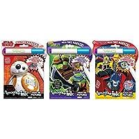 バンドルの3想像インクMagic画像Activity Books – Star Wars VIII最後の帰還、Teenage Mutant Ninja Turtles , andトランスフォーマーカーロボット
