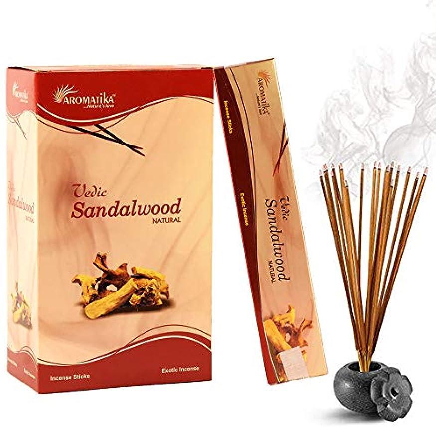 イーウェルビート引き潮aromatikaサンダルウッド15 gms Masala Incense Sticks Pack of 12