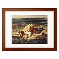 ウジェーヌ・ドラクロワ Ferdinand Victor Eugène Delacroix 「Roman shepherd drinking from spring. About 1825」 額装アート作品