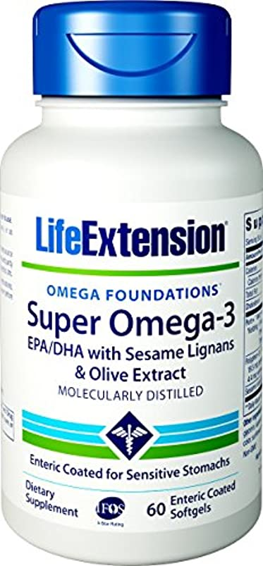ほぼ鉱石スペルSUPER OMEGA-3 EPA/DHA W/SESAME LIGANS & OLIVE EXTRACT EXTERIC COATED 60 SOFTGELS 海外直送品
