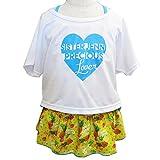 シスタージェニィ(SISTERJENNI) Tシャツ付きフルーツ柄ワンピース水着セット/イエロー 100cm