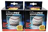 2 Ultra Pro Square BASEBALL DISPLAY Holder w/Stand New Lot Set [2 Baseball Cubes] [並行輸入品]
