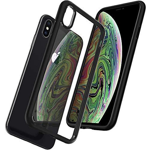 【Spigen】 スマホケース iPhone XS Max ケース 6.5インチ 対応 背面クリア 耐衝撃 米軍MIL規格取得 ウルトラ・ハイブリッド 065CS25128 (マット・ブラック)