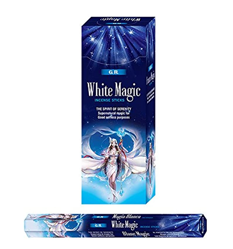 フレア険しい傾斜White Magic Incense-120 Sticks