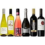 【フランス・イタリア・スペイン・ドイツ・チリ】スパークリングからすっきり白ワインとミディアムボディの赤ワインが楽しめる女子会おすすめ6本セット