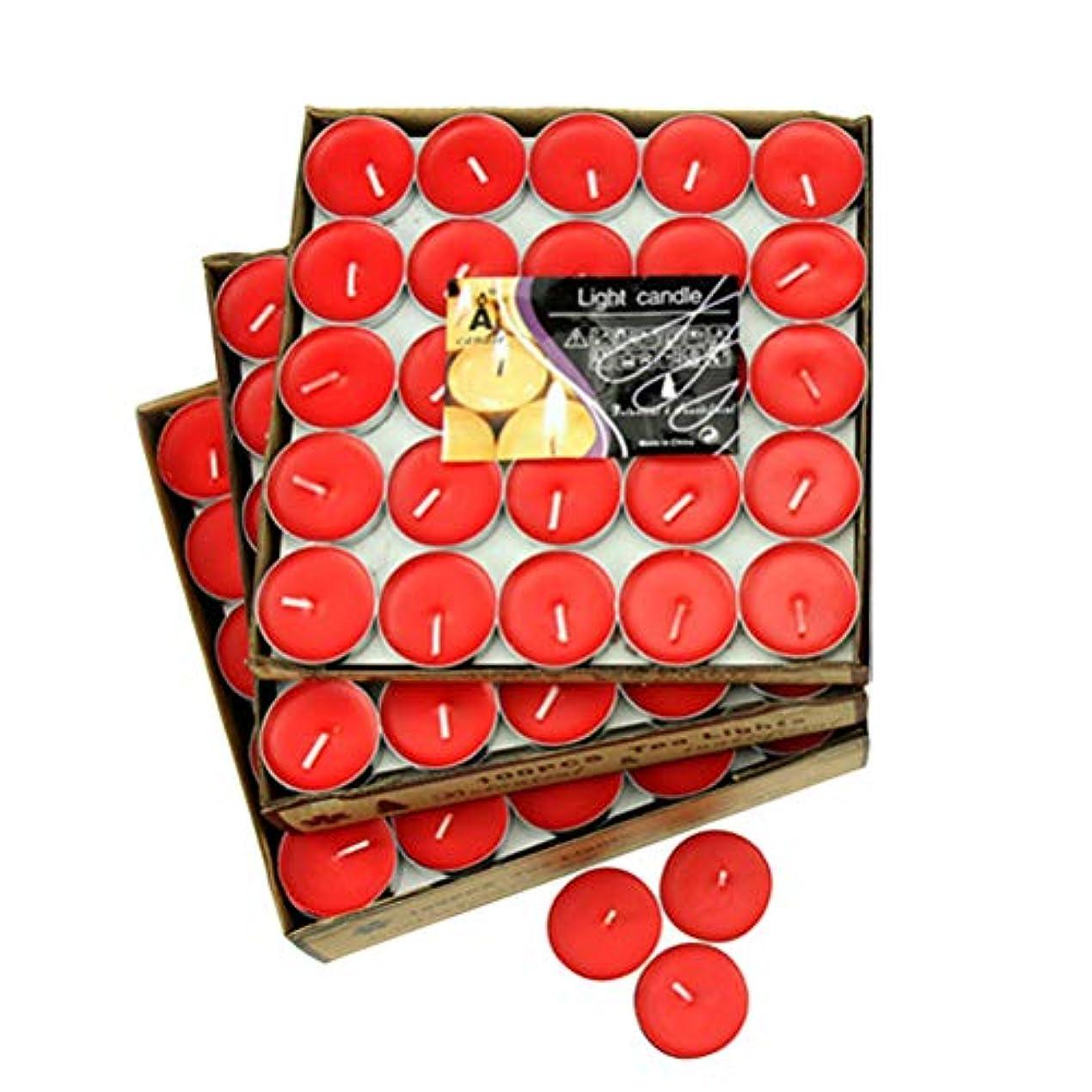 塊浸透する水星LIOOBO 50本の小さなちらつき装飾キャンドルロマンチックな香りのないキャンドル(赤)