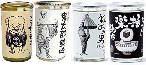 千代むすび ゲゲゲの鬼太郎シリーズ 180mlカップ 4本セット