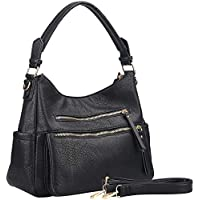 UTAKE Handbags For Women Hobo Shoulder Purse PU Leather Top Handle Satchel Large Muti-pocket Tote Bags